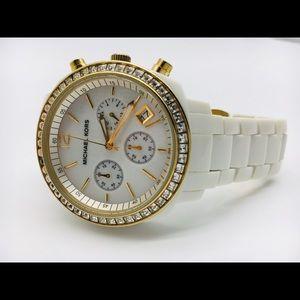 Michael Kors White enamel watch small wrist